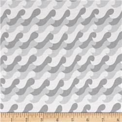 Nautical Treasure Waves Light Gray