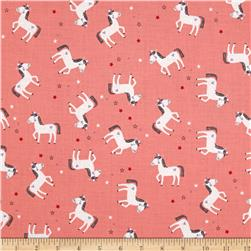 Riley Blake Princess Dream Unicorn Coral