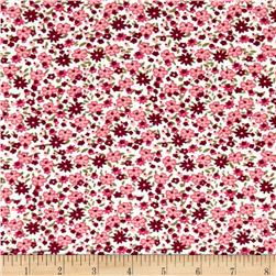 Corduroy Flowers Pink/Red/White