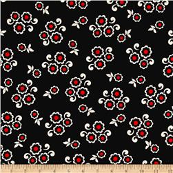 Kanvas Moon Flower Moon Button Black