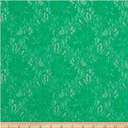 Springtime Floral Lace Kelly Green