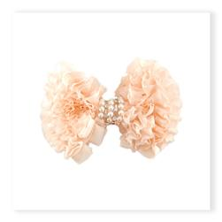 "5-1/2"" X 3-1/2"" Barbara Ruffled Brooch Hair Clip Ivory"