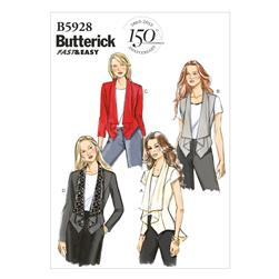 Butterick Misses' Vest and Jacket Pattern B5928 Size A50