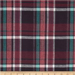 Yarn Dyed Flannel Plaid Berry/Pink