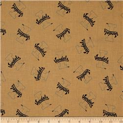 Collegiate Cotton Broadcloth University of Idaho Gold Fabric