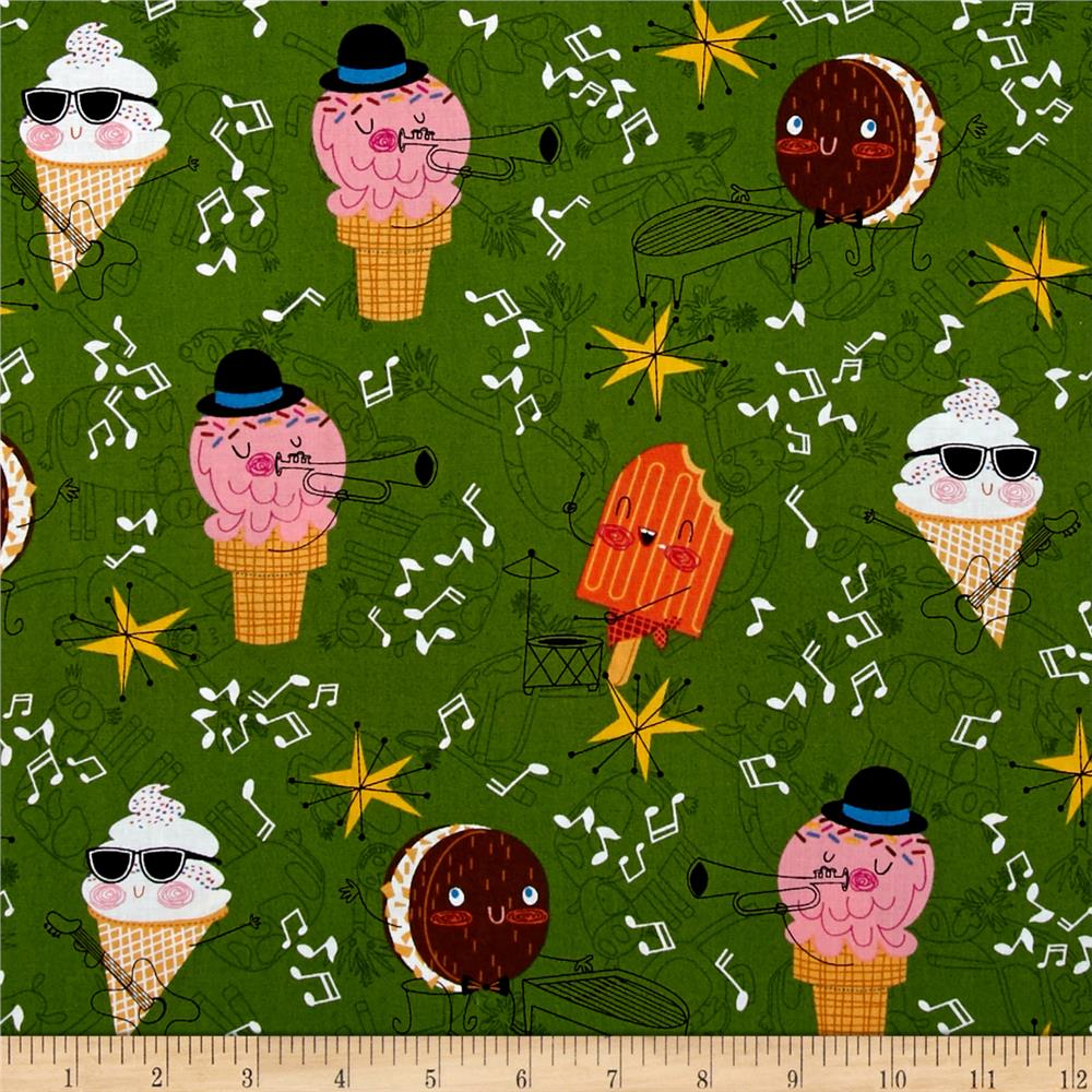 Bessie & The Diaryinettes Ice Cream Green