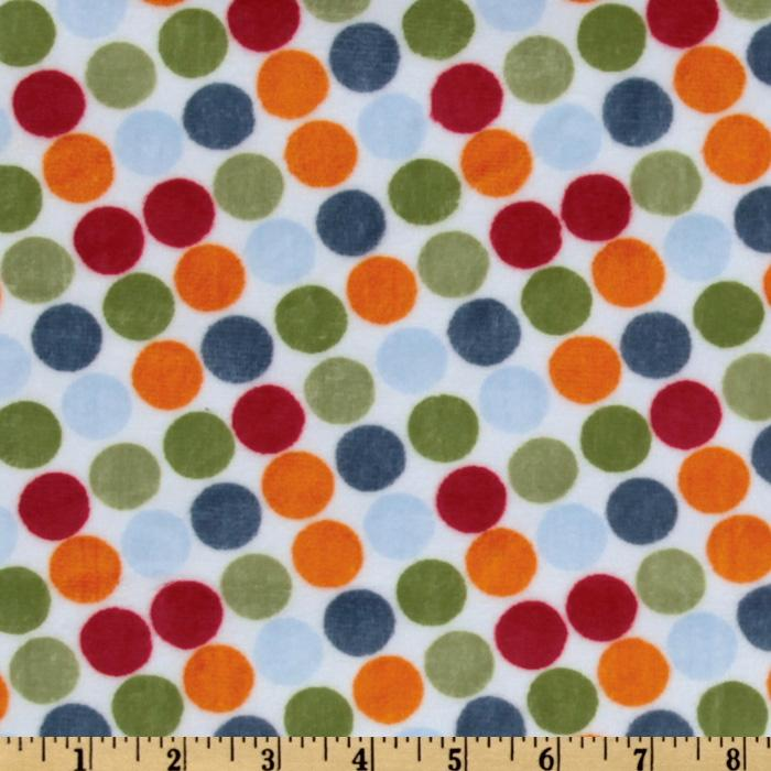 Minky Cuddle Retro Dot White/Orange