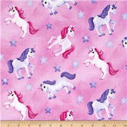 Little Princess Tossed Unicorns Pink