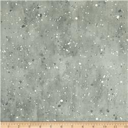 Robert Kaufman Sound of the Woods Metallic Spatter Silver