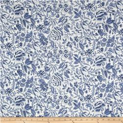 Liverpool Double Knit Allover Flowers Blue/White