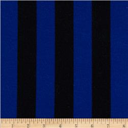 Stretch Nylon Stripe Jersey Knit Black/Blue