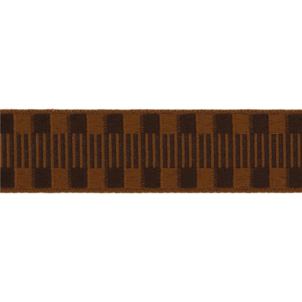 1'' Jacquard Ribbon Check Stripes Brown/Light Brown