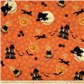 Witches Brew Ha Ha Halloween Toss Orange