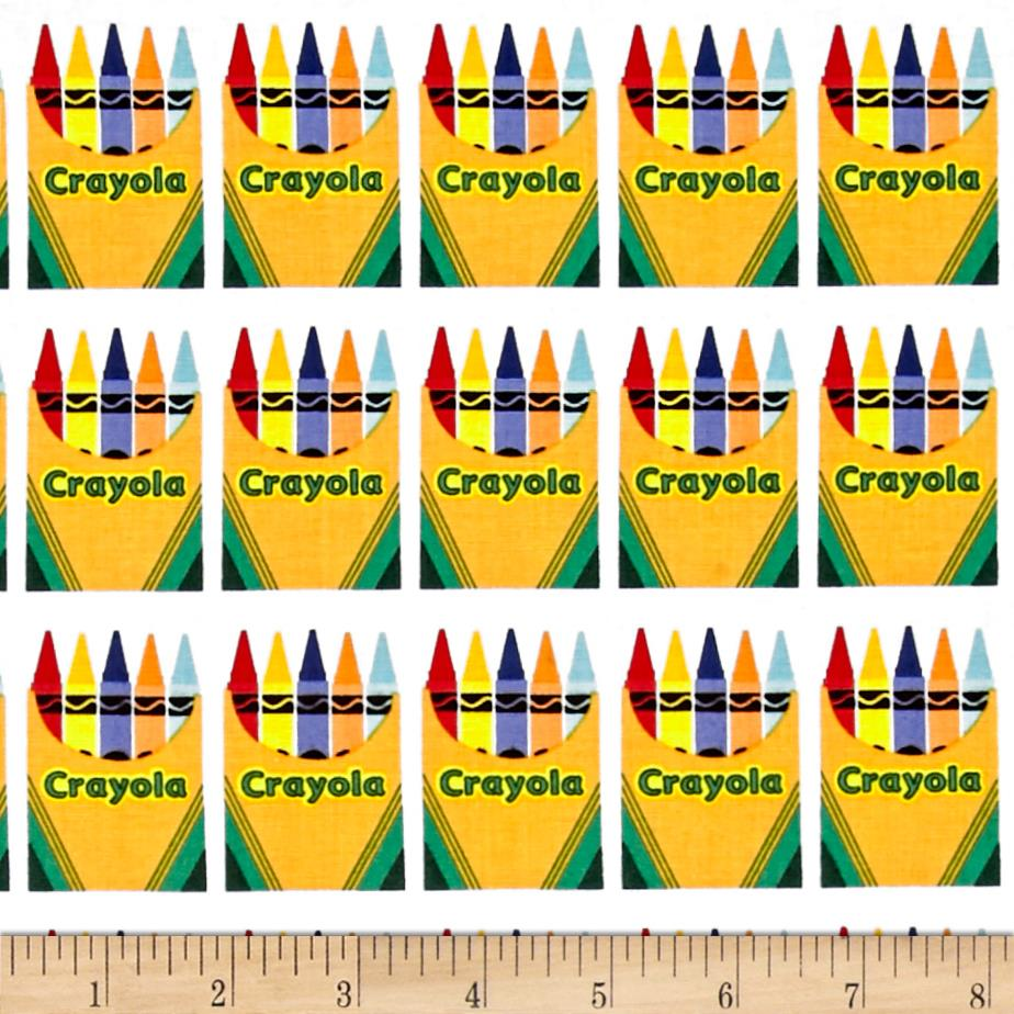 Riley Blake Crayola Box White