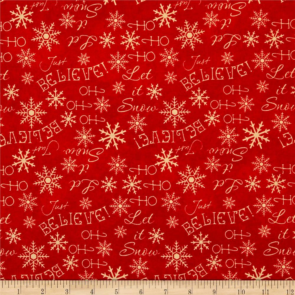 Holiday Dreams Words Red