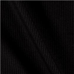 2x1 Rib Knit Solid Charcoal
