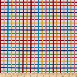 Robert Kaufman Rainbow Remix Grid Bright