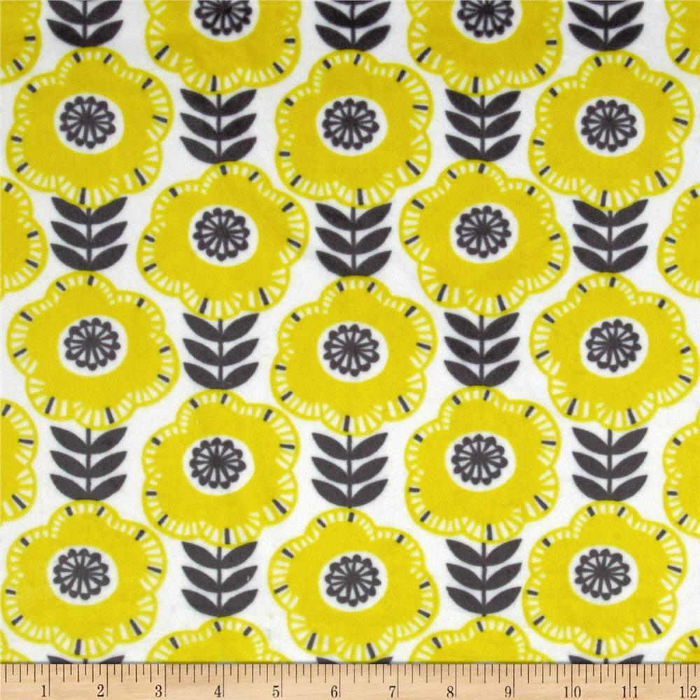 Michael Miller Citron Gray Cozy Libby Citron