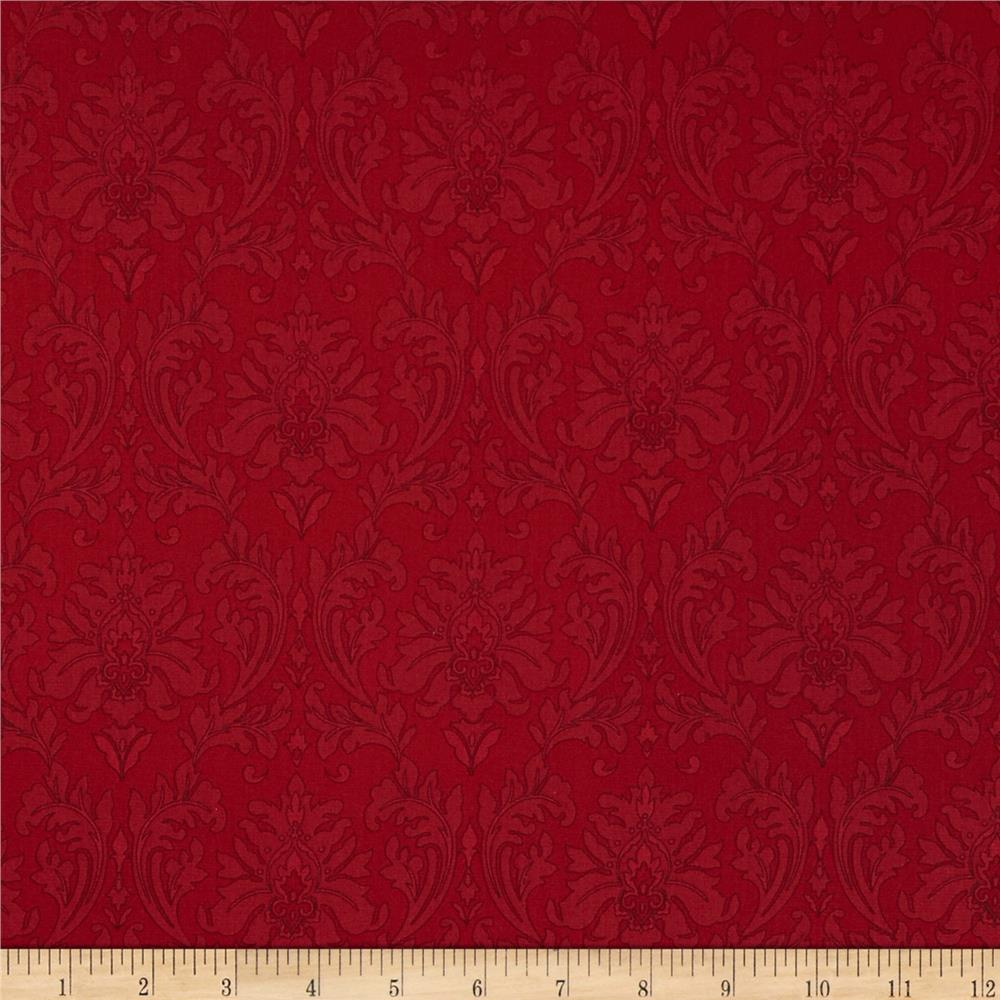 Black, White & Currant 5 Damask Red