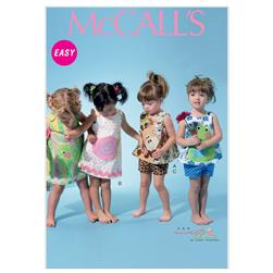 McCall's Infants' Top, Dress, Shorts and Applique Pattern M6541 Size YA5