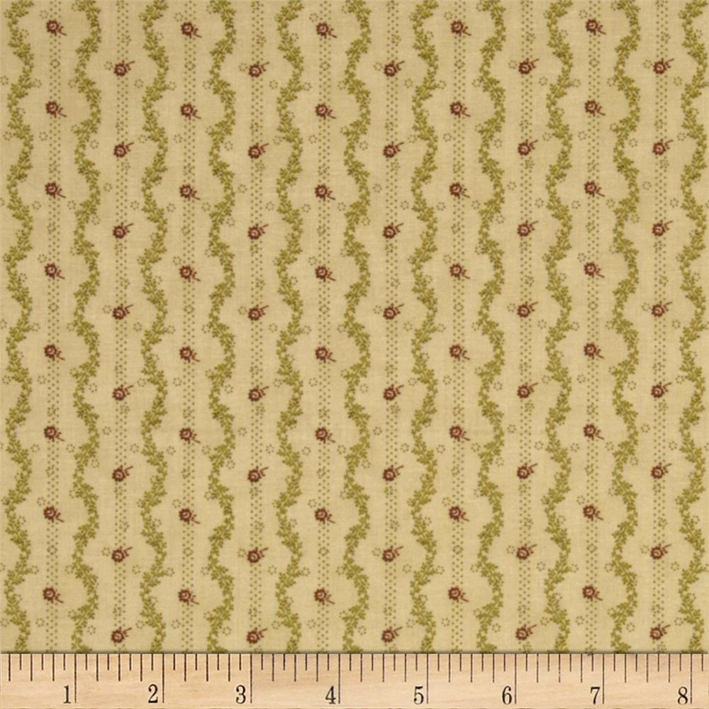Mrs. March's Collection Geometric Flowers Tonal Pine