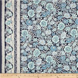 Robert Kaufman Tuscan Wildflower Metallic Tuscan Border Copen