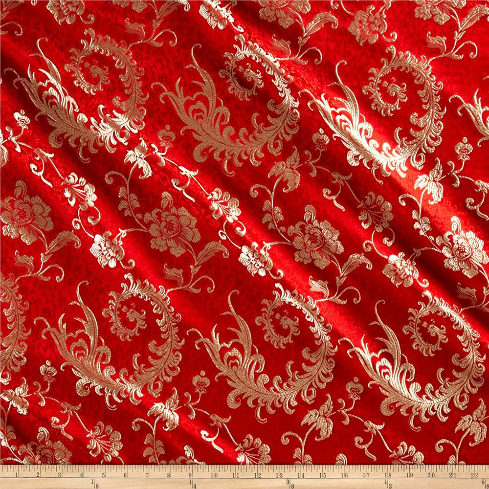 Chinese Brocade Luck Red Gold