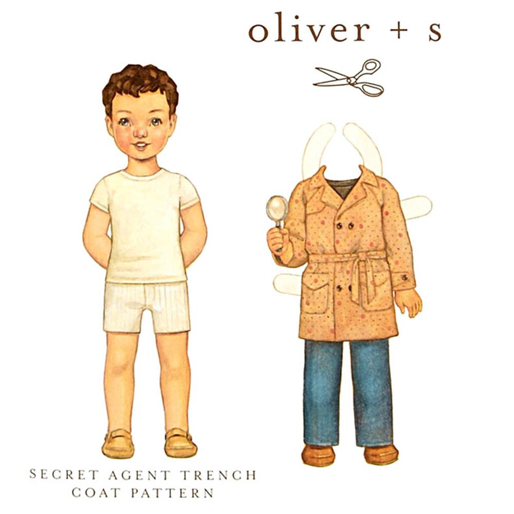 Oliver + S Secret Agent Trench Coat 6M-4T