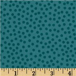 Metro Dots Dusty Teal