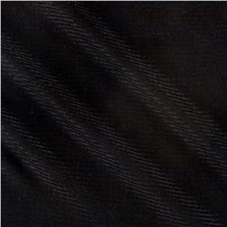 Designer 2x1 Rib Knit Solid Black