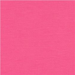 Rayon Poly Jersey Knit Solid Neon Pink