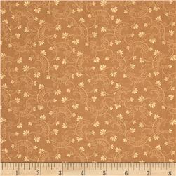 Moda Clara's Garden 108'' Wide Back Swirls and Blooms Sand