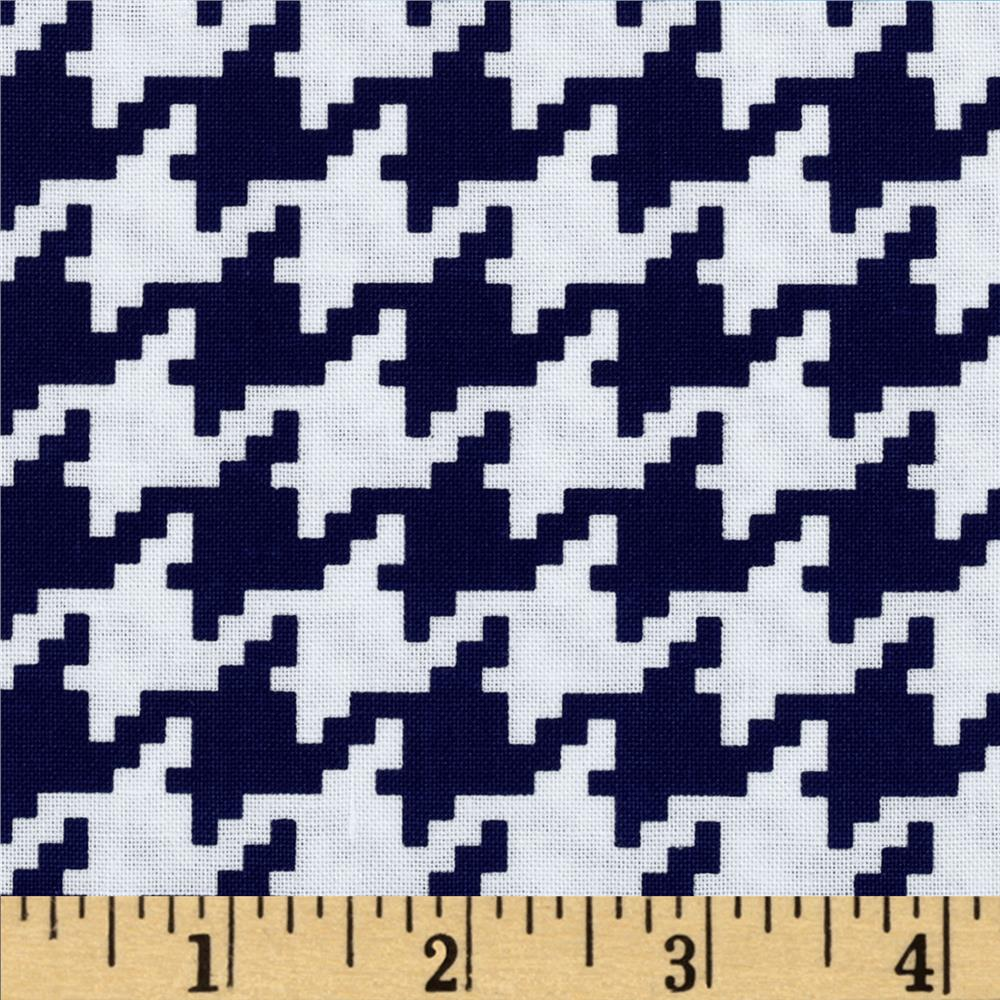 Michael Miller Everyday Houndstooth Navy