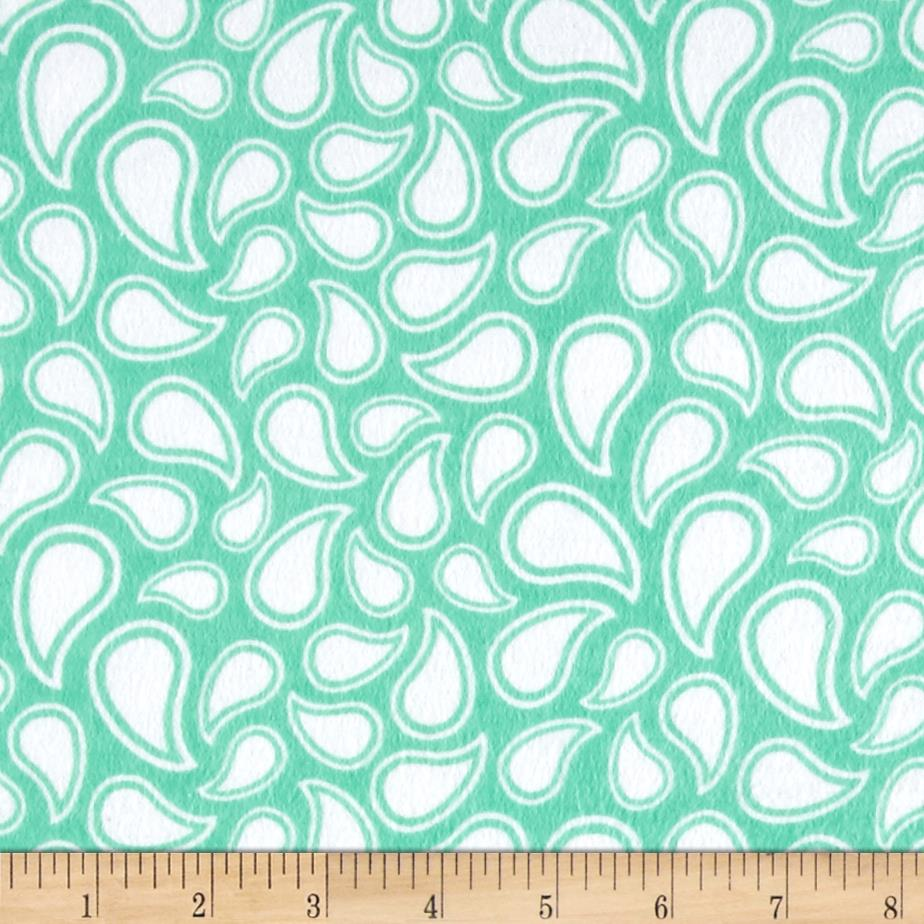 Flannel Simple Paisley Aqua