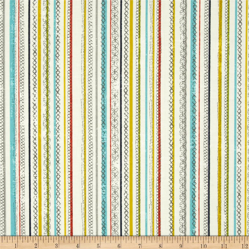Moda Garden Project Stitched Stripes Cloud
