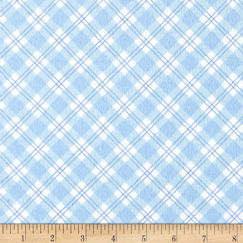 Small Argyle Flannel Blue