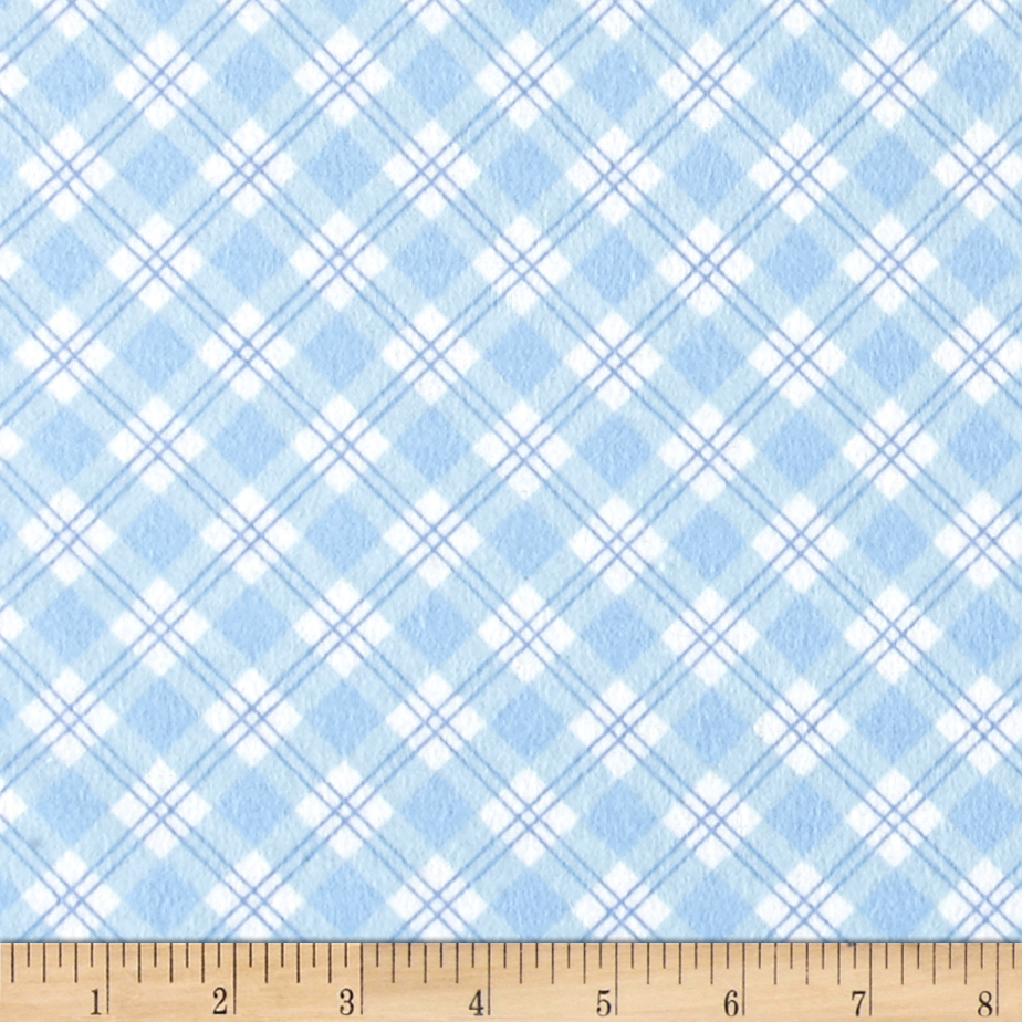 Small Argyle Flannel Blue Fabric by Newcastle in USA
