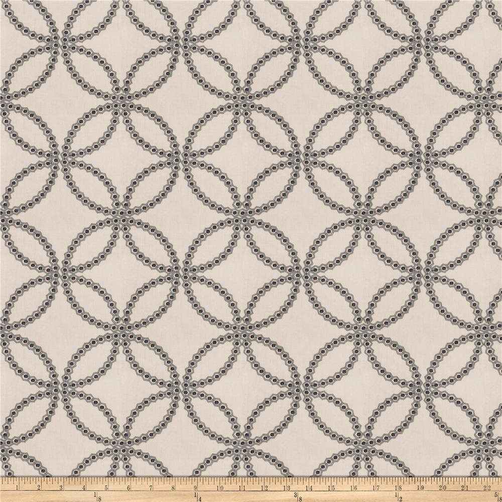Fabricut Reconciliation Embroidered Twill Navy
