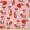 Kaufman Fabulous Foxes Large Fox Girls Pink
