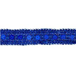 3/4'' Adriana Metallic Sequin Braid Trim Roll Royal