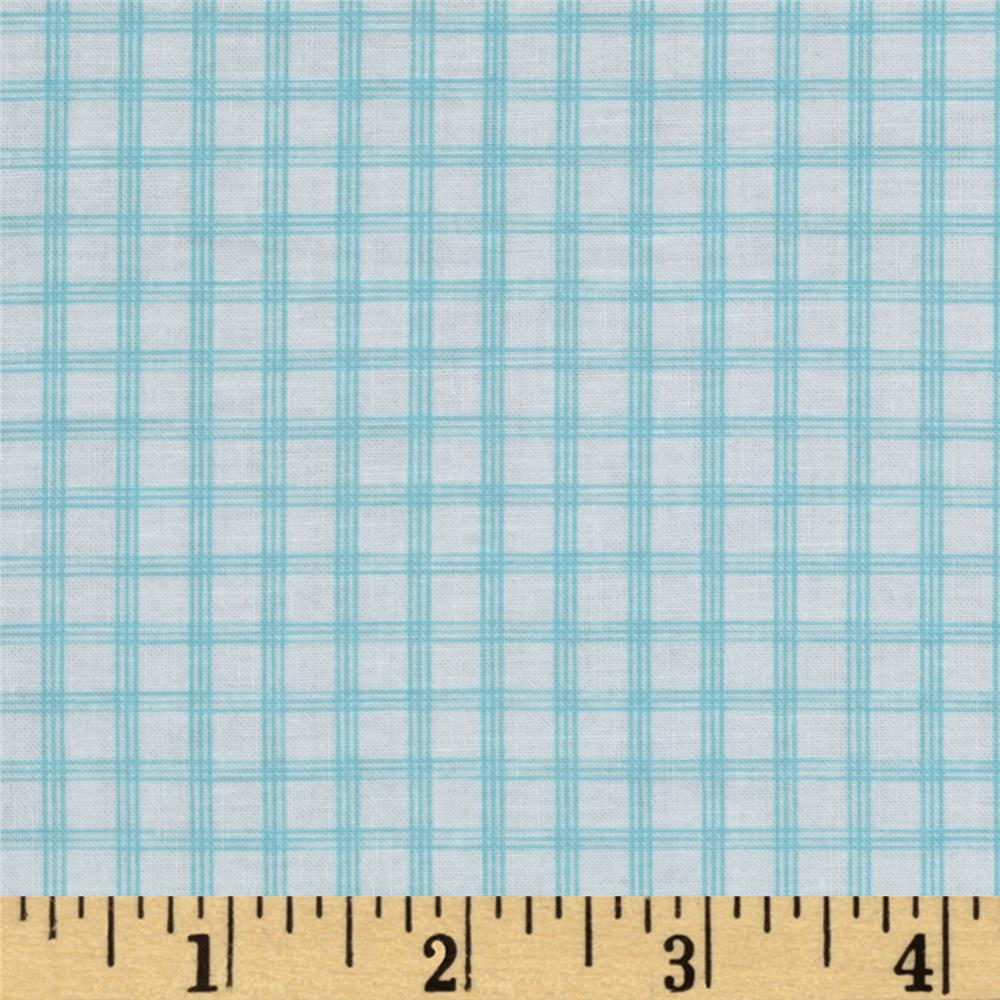 Citrus Tattersall Plaid Aqua