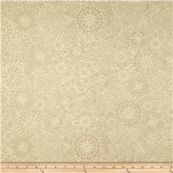 Ramtex Faux Leather Retro Floral Cream