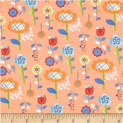 Mother Goose Tales Funky Flowers Orange