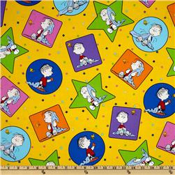 Peanuts-Project Linus Linus Patches Yellow Fabric