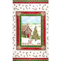 Gingerbread Christmas Wallhanging Panels Multi