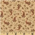 Bonsoir Flannel Small Paisley Tan
