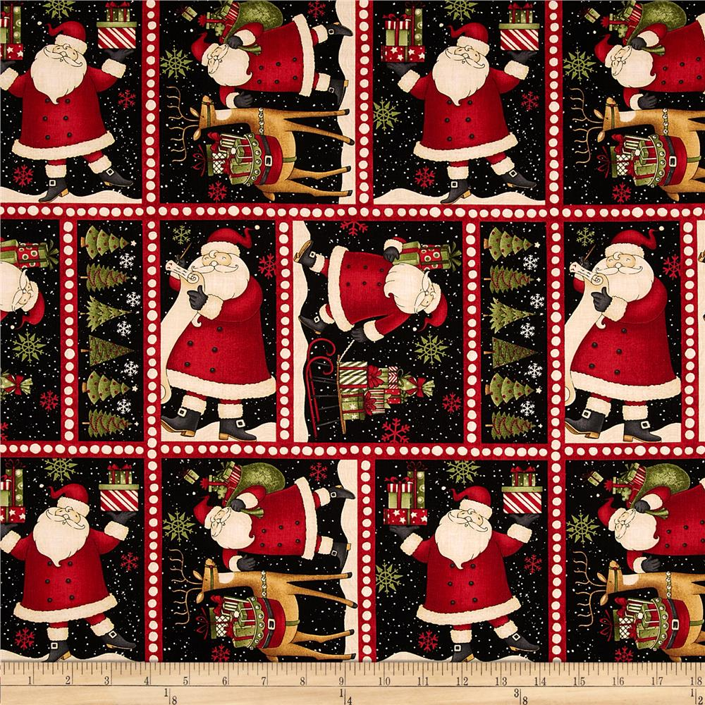 Santa's Gifts Sampler Black
