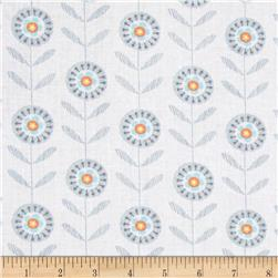 Timeless Treasures Lily Line Floral White