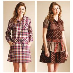 Kwik Sew Misses Dropped Waist Shirt Dresses Pattern