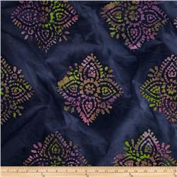 Indian Batiks Large Medallion Purple
